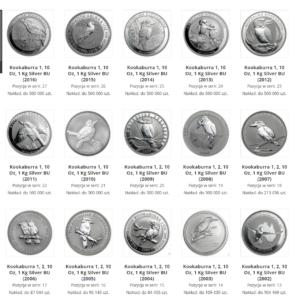Almanach Srebrnych Monet Bulionowych (W BUDOWIE)